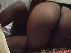 Black Lesbians Passionately Finger And Lick Their Slippery Pussies During Sex