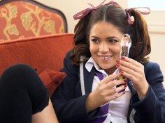 Horny lesbians fucking in school uniform