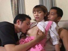 Kinyk Japanese teen Sanae Mizushima gets her wet twat eaten dry