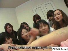 JAV CFNM Femdom Handjob Party Subtitled