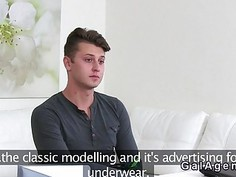 Handsome model finished his casting with fucking