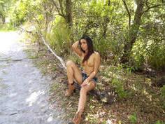 Beautiful bronze Latina