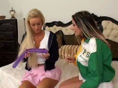 Raunchy whores Cailey Taylor and Randi Wright are filming in mind blowing lesbian sex vid presented to you by All Porn Sites Pass