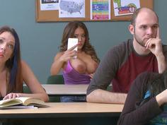 Ignorant slut Jean Michaels disrupting Mr. Gunn's lecture